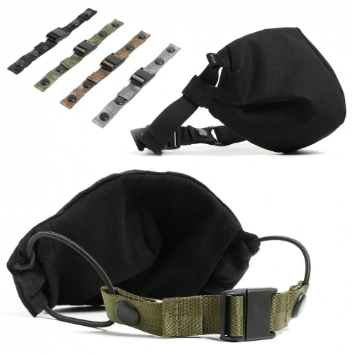 DSPTCH Face Covering and Face Covering Strap (that can be used with any mask with ear loops) - nice detail that it can be easily tightened and uses a magnetic buckle.