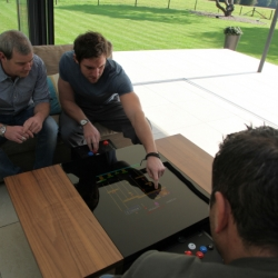 Dual, the new arcade table from surface tension, is an entry-level system utilising a dedicated arcade board. Aimed at the more casual arcade gamer, but built to the same high quality and attention to detail.