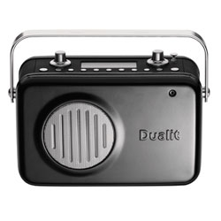 Nice radio, with cast aluminum casing, from Dualit. Functions both with DAB and FM and has AUX in, stereo & & optical output and comes in four colors.