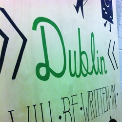 Designgoat invited 5 incredible illustrators to make some art inspired by Dublin, to add some life to a Dockland warehouse which they are currently transforming!