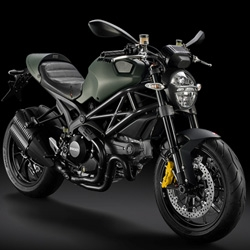 The new Ducati Monster Diesel is the company's newest machine and emerges from a collaboration with the Italian design house Diesel.