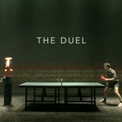 Save the Date for an exciting duel: 11th of March man vs. machine: it's the table tennis match of a new kind featuring the table tennis champion Timo Boll versus KUKA industrial robot!