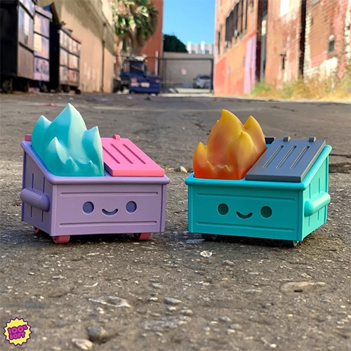 100% Soft limited edition DUMPSTER FIRE resin toy dropping at SDCC 2019! (Based on their enamel pin design.)