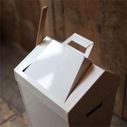 Brendan Ravenhill's Dustbin combines a dustpan, brush and bin.