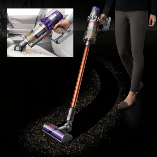 Dyson Cyclone V10. Dyson has finally stopped designing corded vacuums and has fully embraced the handhelds as the only vacuums you'll need (We haven't used a corded one in years!) The latest V10 takes it to the next level.