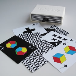 Consisting of two different decks, one based on mathematical functions, the other on geometric shapes, these beautiful playing cards designed by US artist, Tauba Auerbach, are set to be a serious collectors item.....