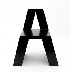 ABC chairs. Rotterdam designer Roeland Otten  has designed a collection of 26 chairs, each spelling out one letter of the alphabet.
