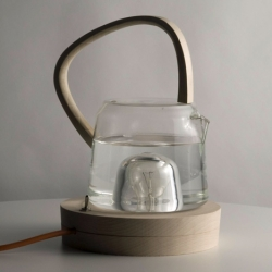 Great kettle by Estelle Sauvage that uses a light bulb to heat water for a cup of tea.