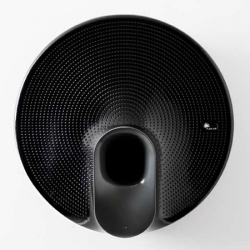 Paris designer Patrick Norguet  has designed Plain Air, a circular wall-mounted air purifier that sucks air in through vents in the top and expels it through a funnel on the front. Lalaunched by TLV  in collaboration with Ahlstrom and Philips.