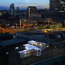 The Skyroom, a rooftop event space by David Kohn Architects perched above the Architecture Foundation's London offices.