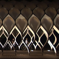 This pavilion is part of Chicago's Lincoln Park Zoo. Stunning video from architectural filmmakers Spirit of Space.