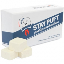 Finally, Stay Puft is a real brand. And there's over 100 mg of caffeine per marshmallow.