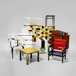 Paint manufacturer Alcro challenged ten students from Beckman's College of Design to breathe new life into old pieces of furniture, using nothing but a lick of paint.