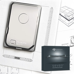 Seagate Seven Portable Harddrive - a mere 7mm thin and 500GB