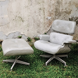 Fred Lives Here's Charles the Chair - iconic Eames lounge chair in cement...