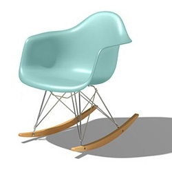 Herman Miller announced five new colors and two new bases for their Eames Molded Plastic Chairs. I'll take an aqua sky rocker, please.