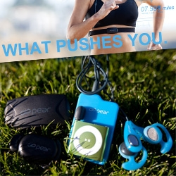 Pear Sports Square One Unbox! This new system puts a super-smart running coach in your ear. A coach that's tapped right into your heart and foot sensors and responds accordingly to motivate you!