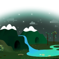 Google's Earth Day 2013 interactive homepage doodle with sightseeing checklist.