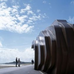 behold the east beach cafe in littlehampton, england, designed by british powerhouse thomas heatherwick. this is his studio's first complete building!