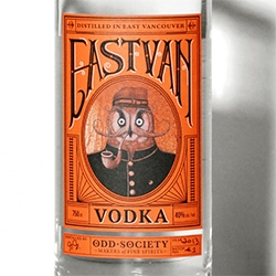 Odd Society: makers of Fine Spirits' East Van Vodka has a gorgeous label by Cause+Affect.