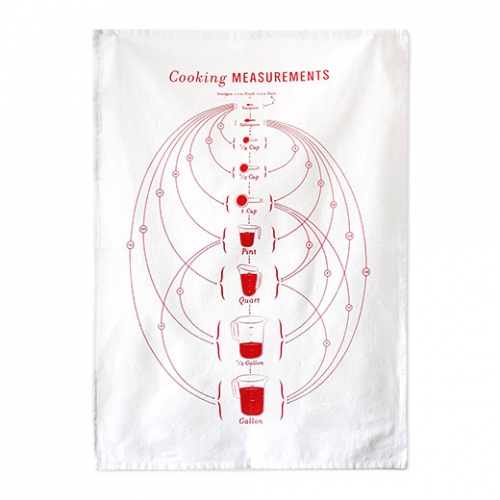 Cooking Measurements Tea Towel by Ashley Walker