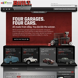"Interesting concept from eBay ~ BUILT from eBay ~ ""Four garages. Four cars. All made from eBay. You decide the winner."" With a series of videos sharing the process, users vote for the winner."