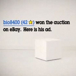 Advertising 2.0: eBay puts its ad space up for auction. Sellers can bid and advertise products on TV.