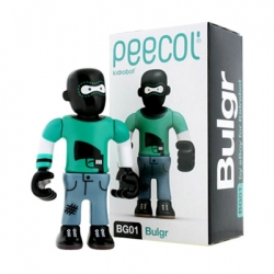 New release for PEECOL Series designed by EBOY for Kidrobot. Bulgr is a ski goggle wearing bandit with virtually no respect for the law.