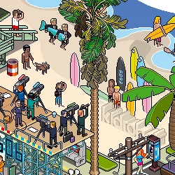 "The pixel art collective eBoy releases this ""LA Poster"". Welcome to the West Coast !"