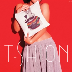 T-shirts crafted as cushions. Launch Posters for  T-shions by Whimsy.