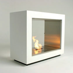 Australian Design #003 The Eco Smart fireplace burns ethanol, and doesn't need venting, which allows for a clean minimalist design.