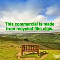"""Great TV Ad campaign by the  power supplier EDF Energy that uses """"recycled"""" film clips including the Wombles, Thunderbirds and John F Kennedy."""