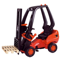 Who needs a bike or tricycle when you could be pedaling this little forklift around....