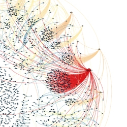 André Panisson visualized how the news of Egyptian president Mubarak's resignation spread on Twitter in real time.