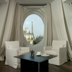 the perfect view of paris right from your radisson blu le metropolitan hotel suite