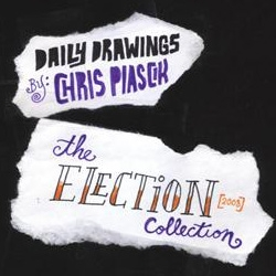 Artist Chris Piascik illustrates in very cool hand lettering the ups and downs of the 2008 election. Warning… Chris is an Obama supporter!