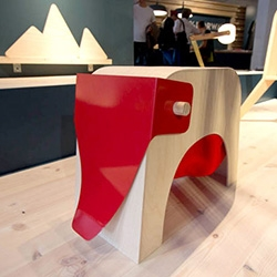100% Norway by the Bergen Academy of Art and Design at Tent London was a definite standout with its playful wooden designs - from this elephant stool  to a collapsible playhouse, beautiful stool, canned hiking happiness, and more.