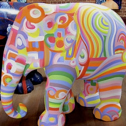 250 life-size, painted sculptures of the animal are being installed around London from May to July for the event Elephant Parade, a conservation campaign for the endangered Asian elephant.