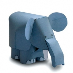 this awesome, moving paper elephant is one of many sweet toys at flying pig.  i love the logic goats too, which nod and shake their heads. =)