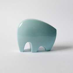 Super cutie porcelain elephants. Handcrafted by Anne Roessler from Germany.