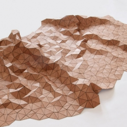 Beautiful wood textile by Elisa Strozyk