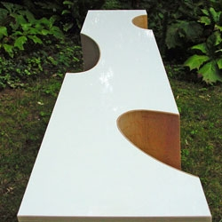 Ellipse Shelf, study of a shelf lasting on bent plywood sheets only.