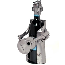 elvis impersonator wine caddy by artist Guenter Scholz