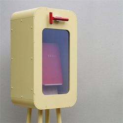 """Emergency Cabinet"" by Dutch designer Tom Frencken. This cabinet keeps a bible to prevent you from reading it until its absolutely necessary."