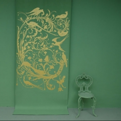 gorgeous wallpaper and imagery  from emery & cie - and the paint colors and chair are theirs too!