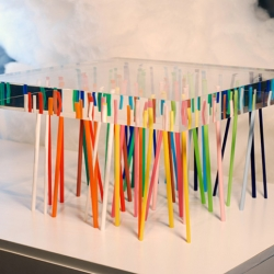 Emmanuelle Moureaux lives - of course with this name - in Japan and created this stunning table called Shibafu.