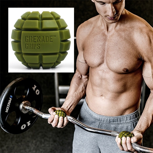 Grenade Grips - slip them over dumbbells, etc to activate different muscles when exercising.