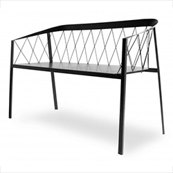 Friends & Founders Bench Net - gorgeous indoor/outdoor net made of metal powdercoated in white, black, copper brown, or bronze.