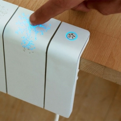 Beautifully designed AC Adapter concept that monitors power consumption.
