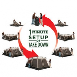 Coleman's INSTANT TENT 8 ~ put it up or take it down in 1 minute! and you can fit two queen inflatable mattresses inside...